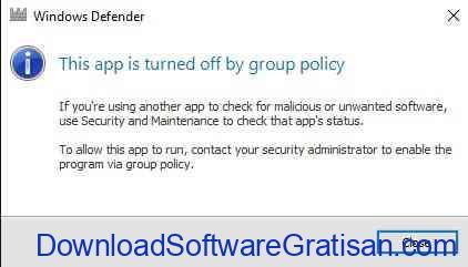 Windows Defender Disabled