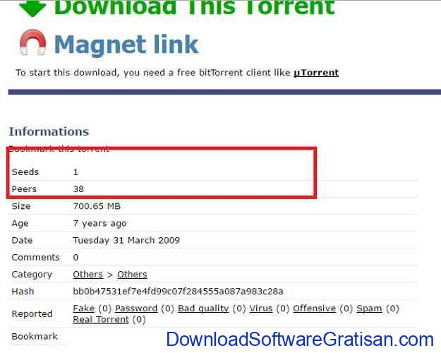 cara download file torrent seeds peers