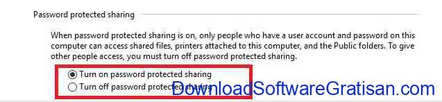 password protected sharing