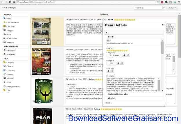Aplikasi Gratis untuk Membuat Katalog Produk Datacrow