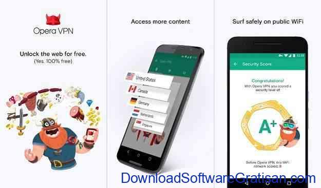 Aplikasi Layanan VPN Gratis Android dari Opera