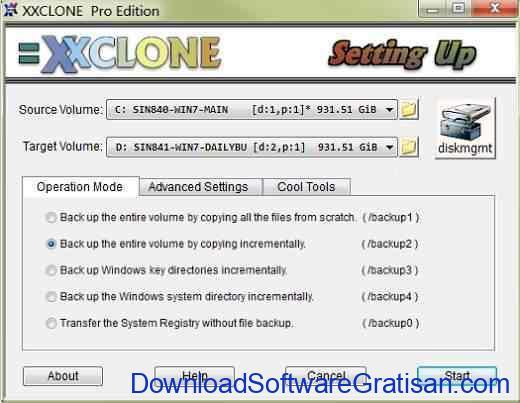 Aplikasi untuk Cloning dan Backup Sistem Windows XXCLONE
