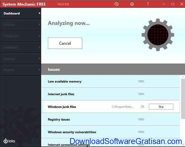 Aplikasi mempercepat kinerja laptop Iolo System Mechanic