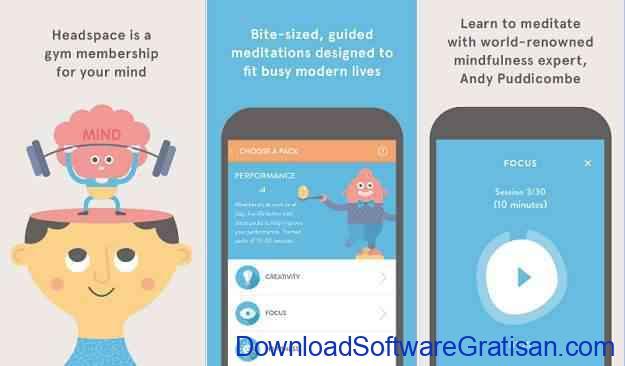 Rekomendasi Aplikasi Gratis untuk Mahasiswa Headspace