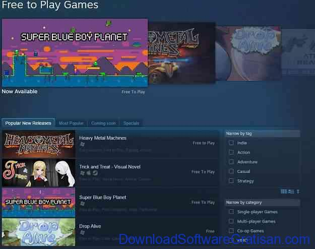 Situs Download Game PC Gratis Terbaik Steam