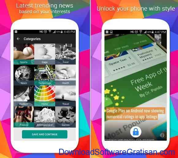 Aplikasi Kunci Layar Gratis Terbaik untuk Android NextNews Lock Screen