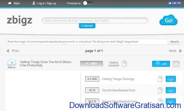 Cara Mendownload File Torrent Menggunakan IDM zbigz