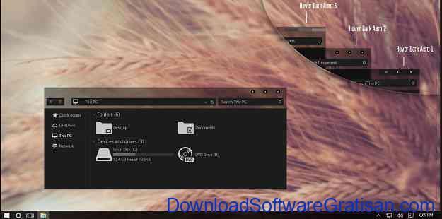 Tema Gratis Terbaik Windows 10 hover dark aero