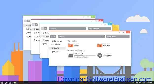 Tema Gratis Terbaik Windows 10 flattastic