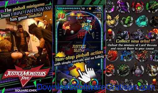 Game Final Fantasy Pinball RPG Justice Monster Five