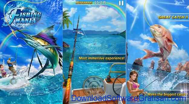 Game Memancing Ikan GRATIS fishing mania 3d