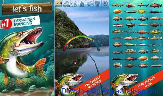 Game Memancing Ikan GRATIS lets fish
