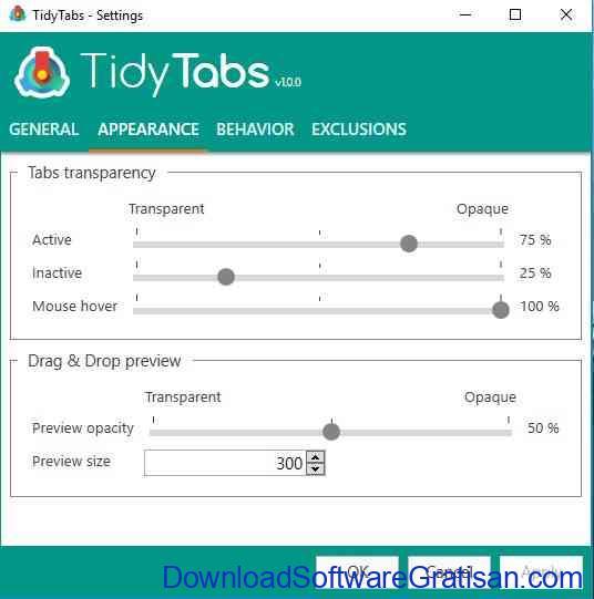 tidytabs-apperance
