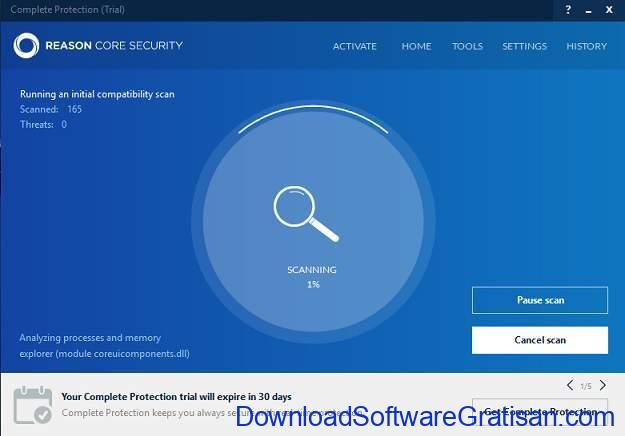 Aplikasi Anti Malware untuk PC reason core security