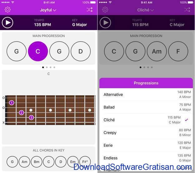 Aplikasi Gitar Terbaik Android dan iPhone aplikasi gitar autochords