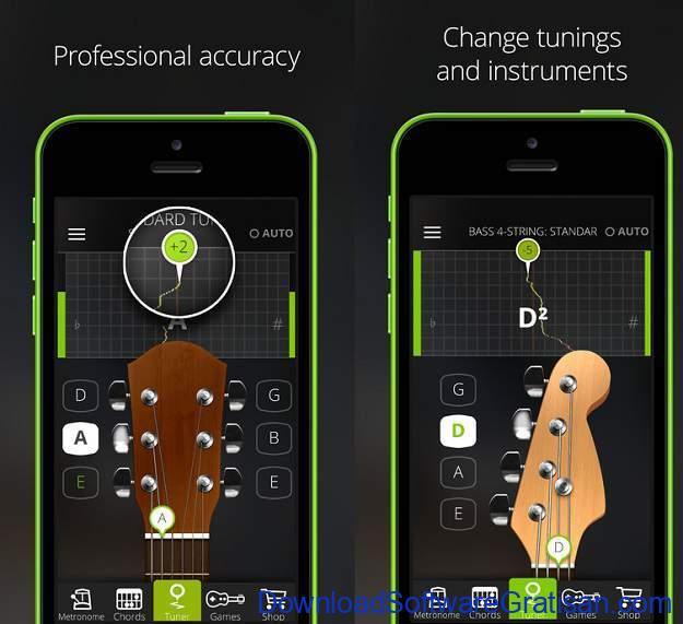 Aplikasi Gitar Terbaik Android dan iPhone guitar tuna
