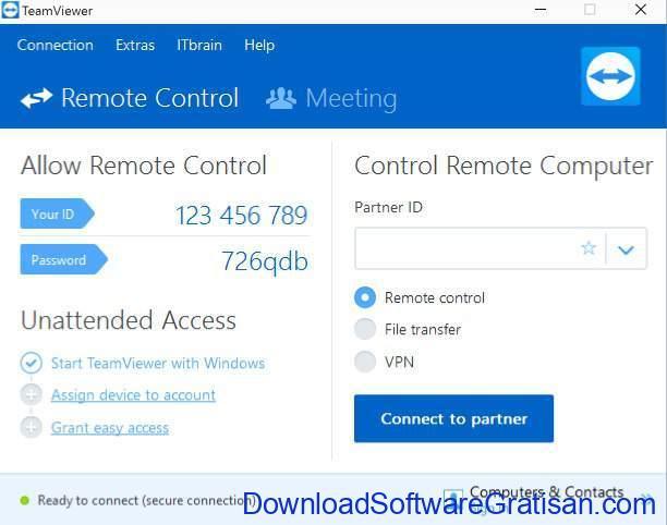 Aplikasi Remote Desktop Gratis Terbaik untuk PC teamviewer