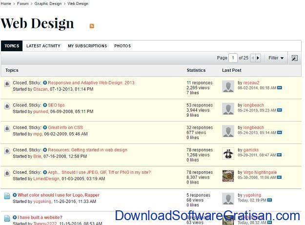 Forum Terbaik untuk Web Designer Graphic Design Forum