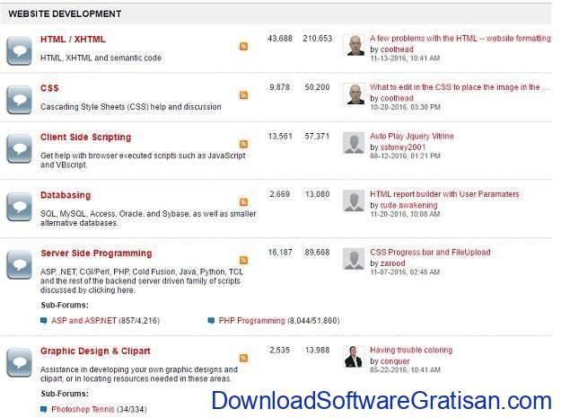 Forum Terbaik untuk Web Designer HTML Forums