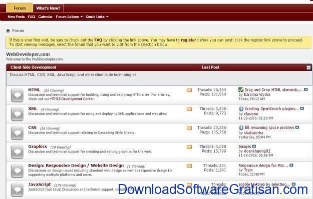 Forum Terbaik untuk Web Designer Forum Webdeveloper.com