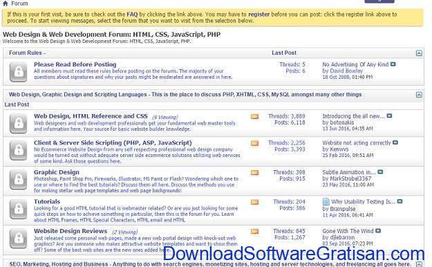 Forum Terbaik untuk Web Designer Webdevforums