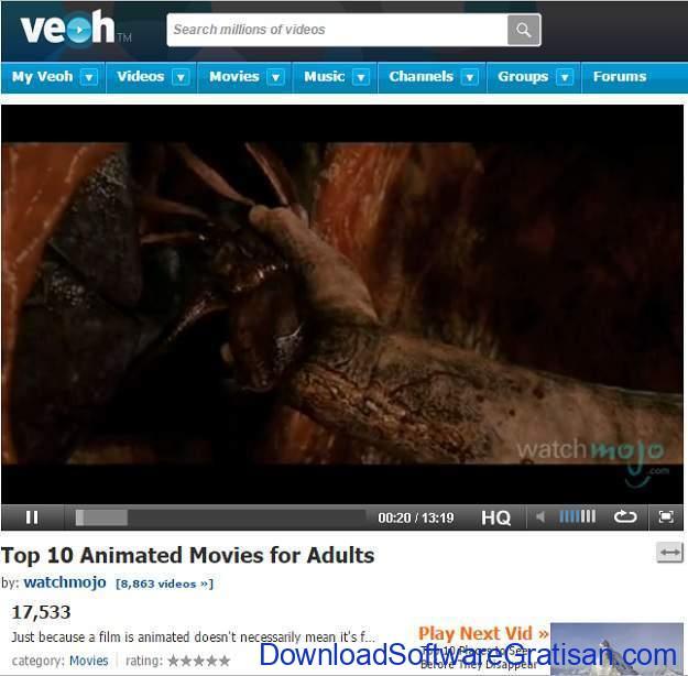 Situs Berbagi Video Gratis Selain Youtube Veoh