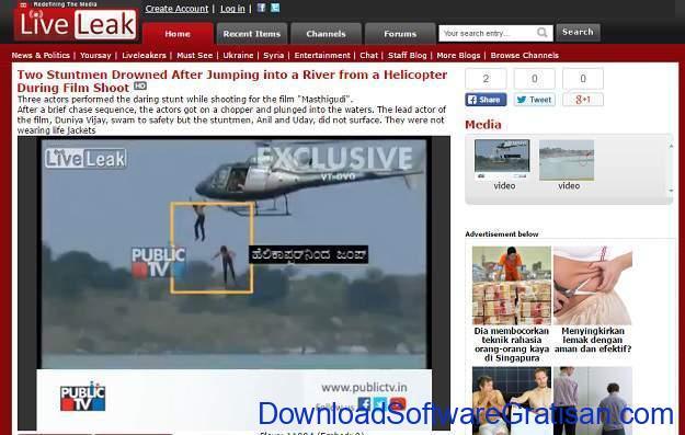 Situs Berbagi Video Gratis Selain Youtube Liveleak