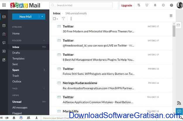 Email Gratis Alternatif Terbaik dari Google Gmail Zoho