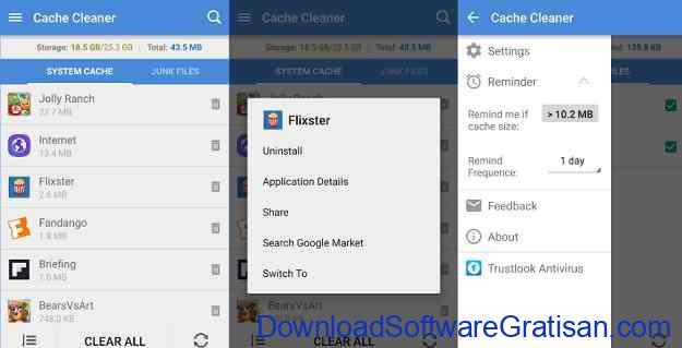 Aplikasi Gratis Otomasi Perangkat Android App Cache Cleaner