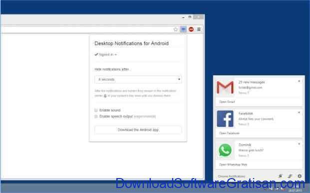 Aplikasi Terbaik untuk Menghubungkan Komputer ke Android Desktop Notification