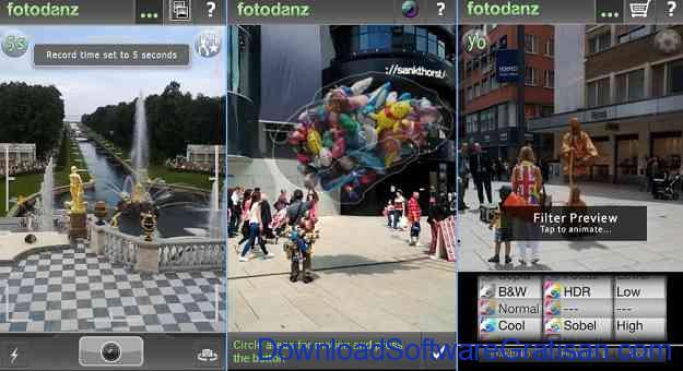 Aplikasi untuk Membuat Cinemagraphs di Android: Fotodanz