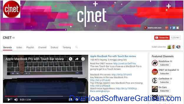 channel-teknologi-youtube-cnet