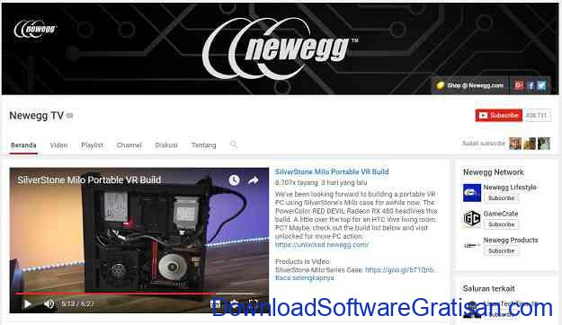 channel-teknologi-youtube-newegg-tv