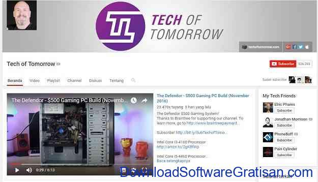 channel-teknologi-youtube-techtomorrow