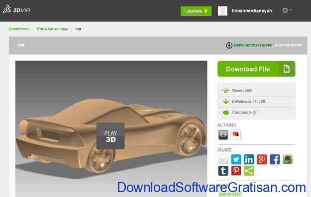 Situs Download Model STL Gratis untuk Printer 3D 3DVIA