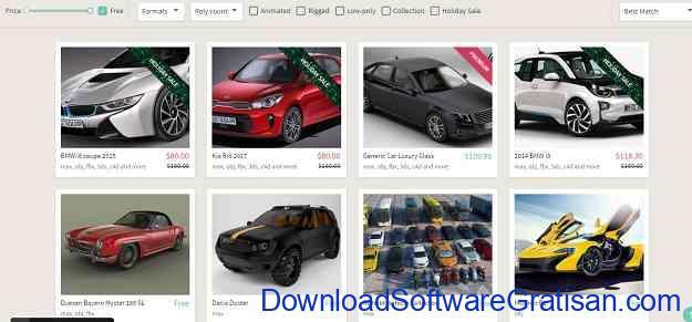 Situs Download Model STL Gratis untuk Printer 3D CGTrader