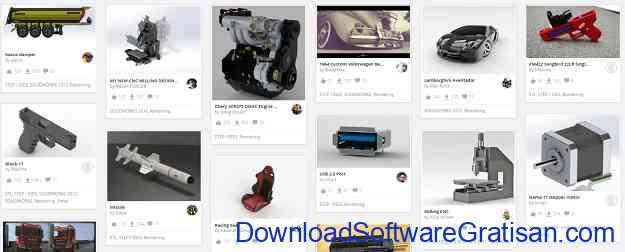 Situs Download Model STL Gratis untuk Printer 3D GrabCAD