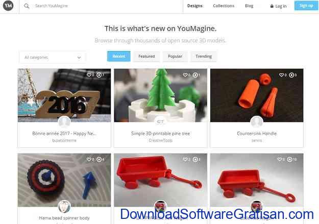 Situs Download Model STL Gratis untuk Printer 3D YouMagine