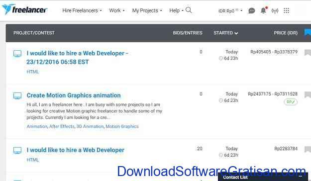 Situs Freelance Terbaik Freelancer