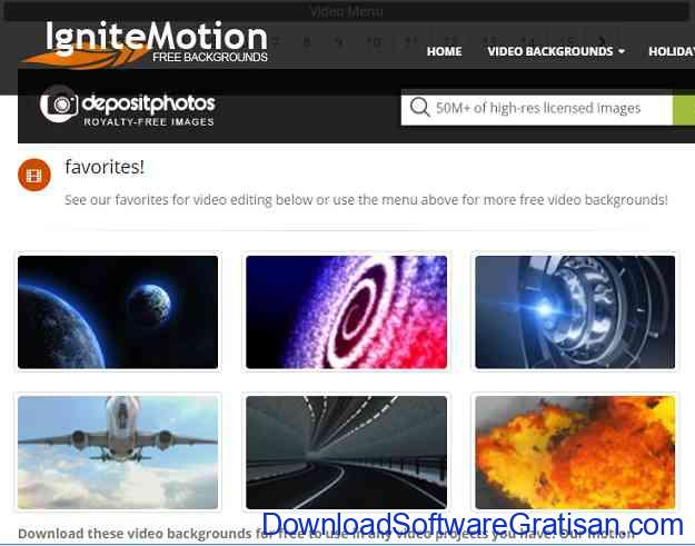 Situs untuk Download Video Intro & Footage Gratis Ignite Motion