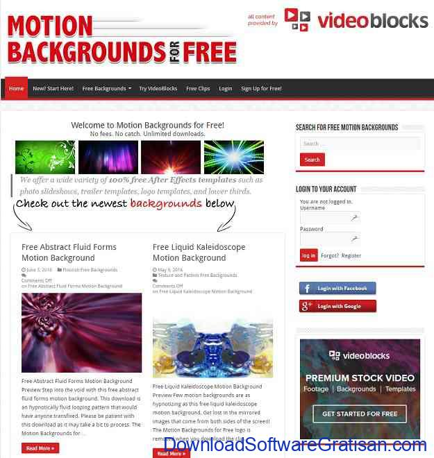 Situs untuk Download Video Intro & Footage Gratis Motion Backgrounds