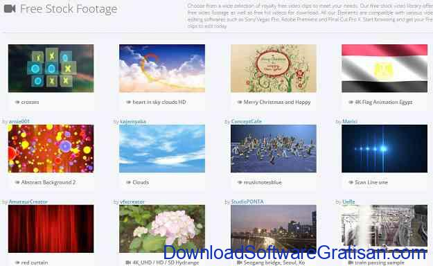 Situs untuk Download Video Intro & Footage Gratis Motion Elements