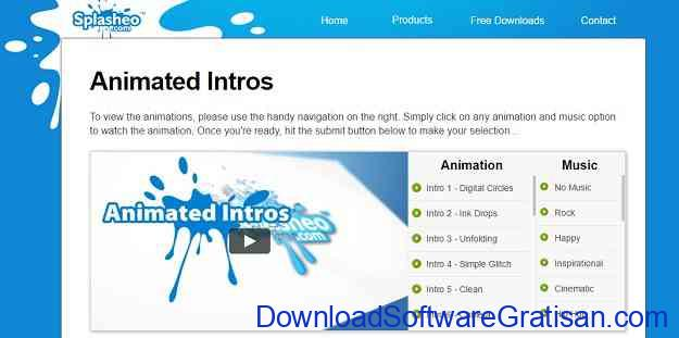 Situs untuk Download Video Intro & Footage Gratis Splasheo