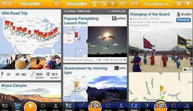 Aplikasi Jurnal Perjalanan Wisata Geospike