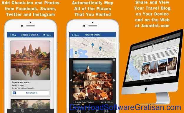 Aplikasi Jurnal Perjalanan Wisata Jauntlet