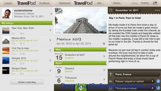 Aplikasi Jurnal Perjalanan Wisata TravelPod