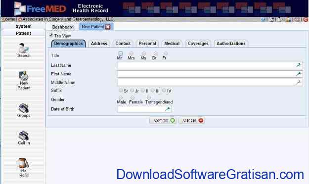 Aplikasi Rekam Medis FreeMED