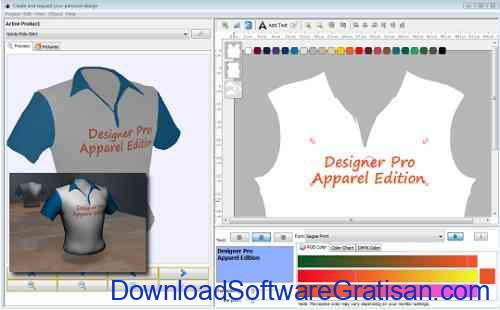 Aplikasi untuk Desain Designer Pro Apparel Edition