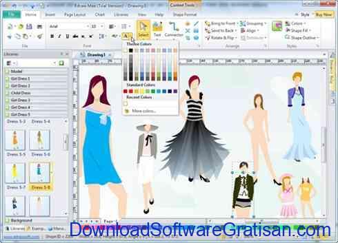 Aplikasi untuk Desain Fashion Edraw