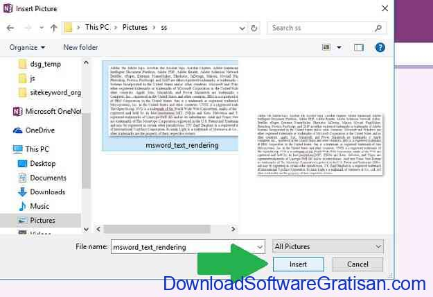 Cara Copy atau Convert Teks dari Gambar One Note Step 3